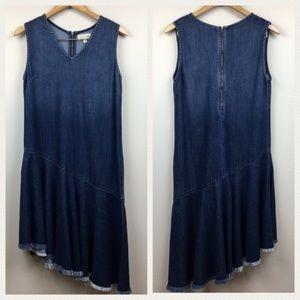 CLOTH & STONE asymmetrical raw hem dress